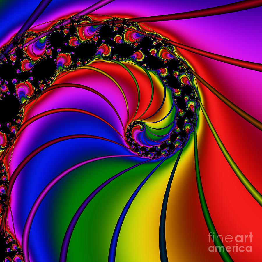Abstract Digital Art - Spiral 124 by Rolf Bertram