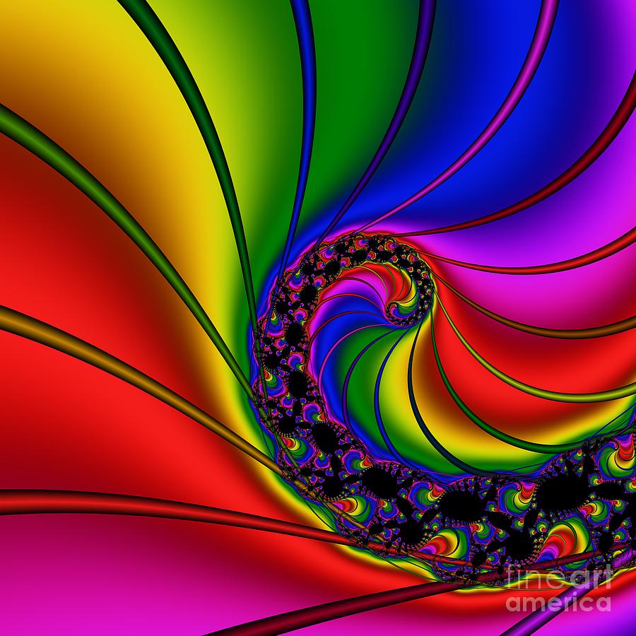 Abstract Digital Art - Spiral 125 by Rolf Bertram