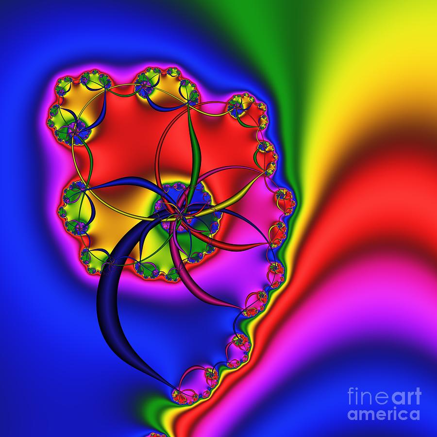 Abstract Digital Art - Spiral 141 by Rolf Bertram