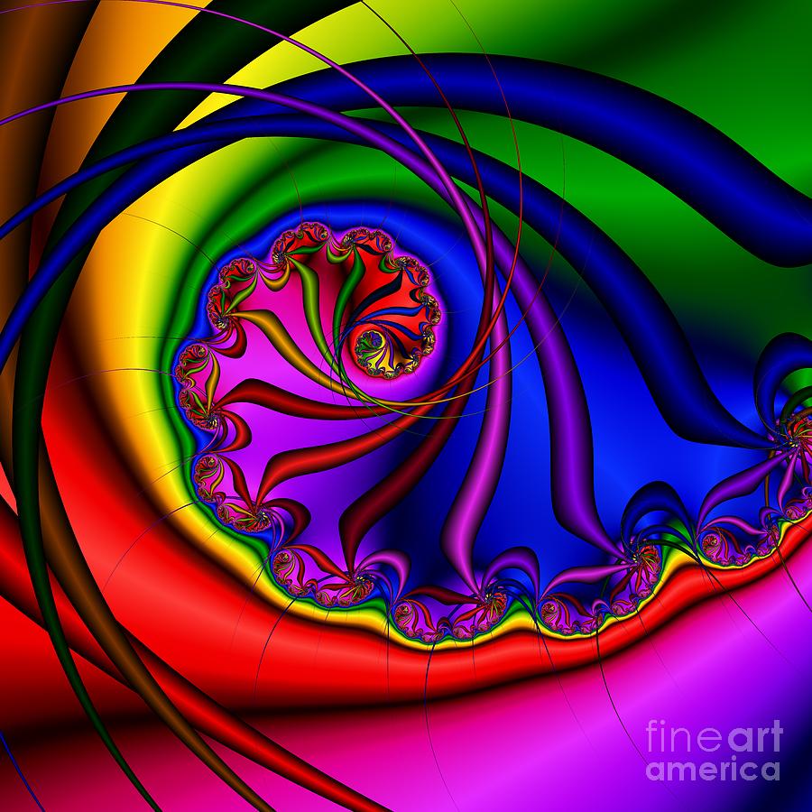 Abstract Digital Art - Spiral 145 by Rolf Bertram