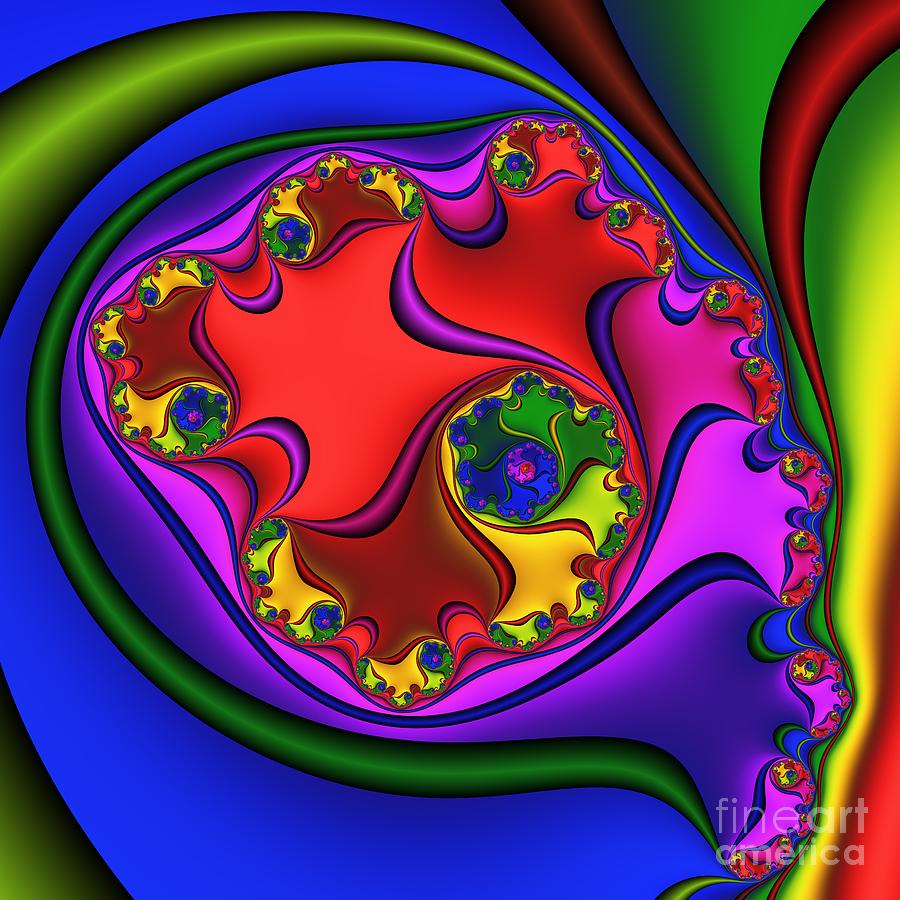 Zen Digital Art - Spiral 218 by Rolf Bertram