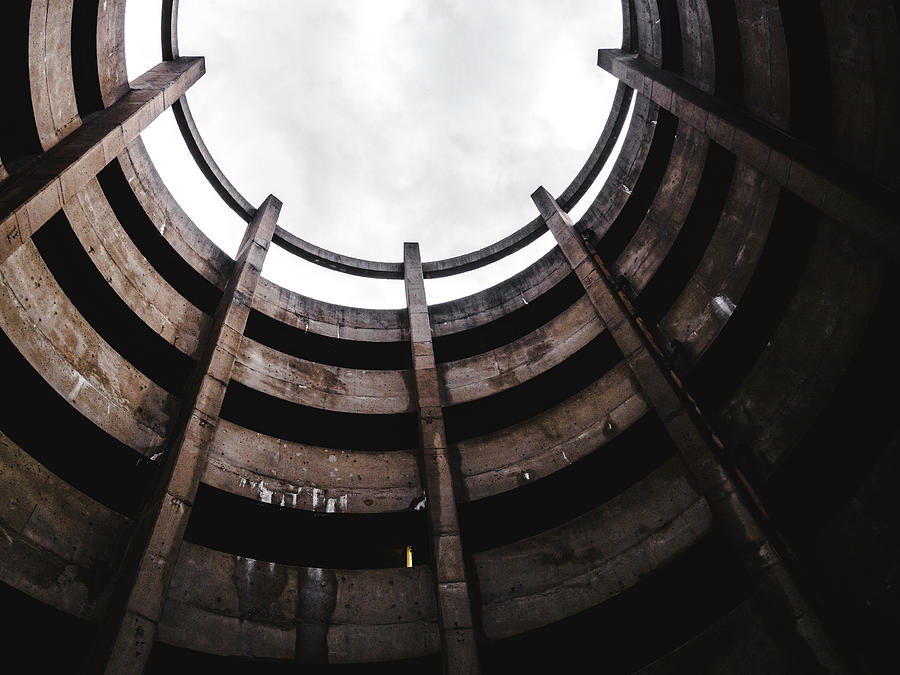 Architecture Photograph - Spiral Architecture Photograph. Looking Up. by Dylan Murphy