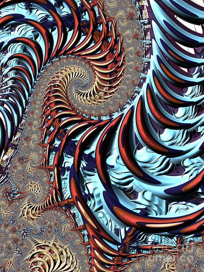 Spiral Cage Digital Art