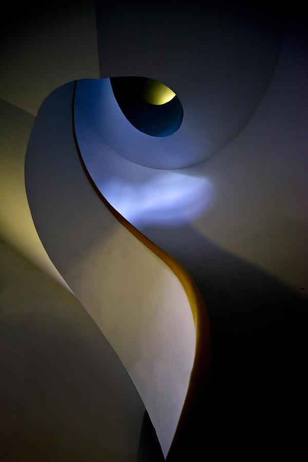 Spiral Photograph - Spiral Concrete Modern Staircase by Jaroslaw Blaminsky