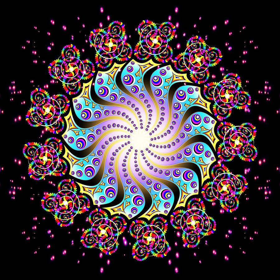 Spiral Digital Art - Spiral Dance by The Awakening Art