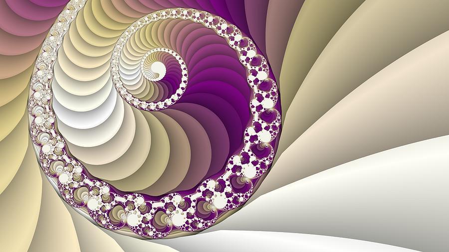 Spiral Fractal Art Digital Art