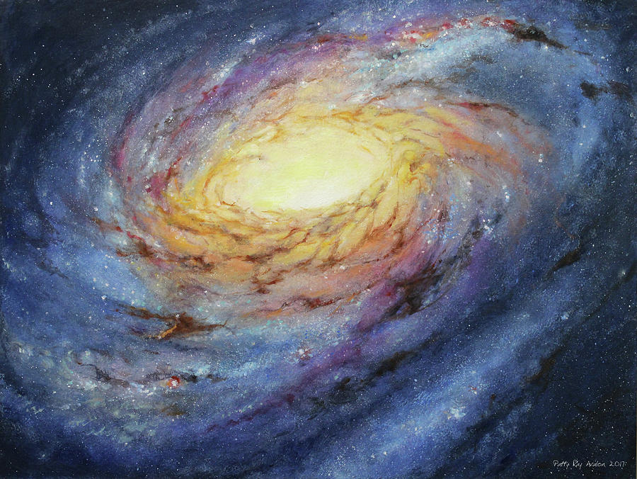 Spiral Painting - Spiral Galaxy 1 by Patty Ray Avalon