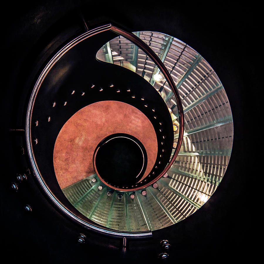 Staircase Photograph - Spiral Glass Stairs by Jaroslaw Blaminsky