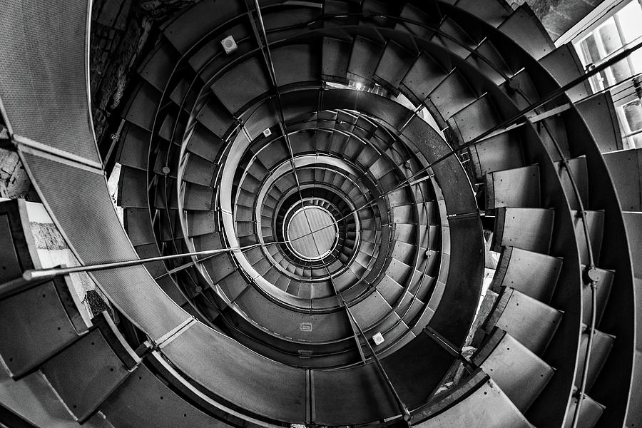 Stairs Photograph - Spiral by Jae Mishra