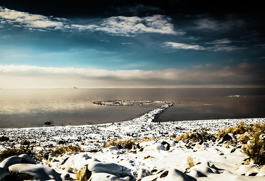 Spiral Jetty in winter by Bryan Carter
