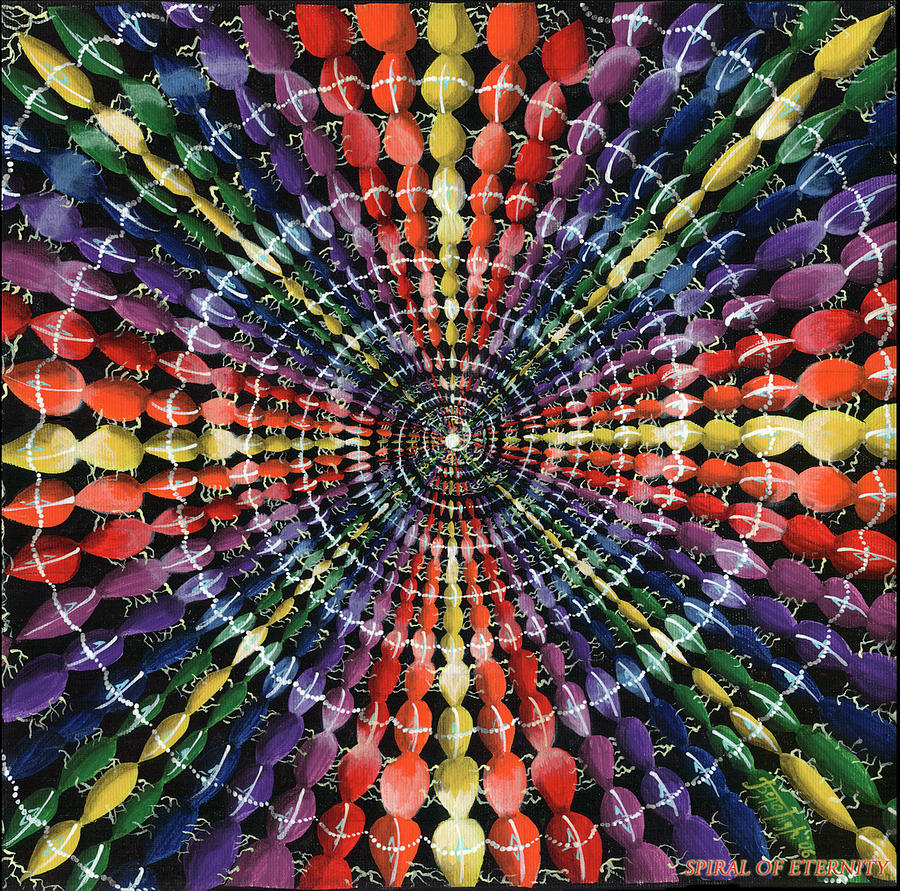 Spiral Painting - Spiral of eternity by Vera Tour