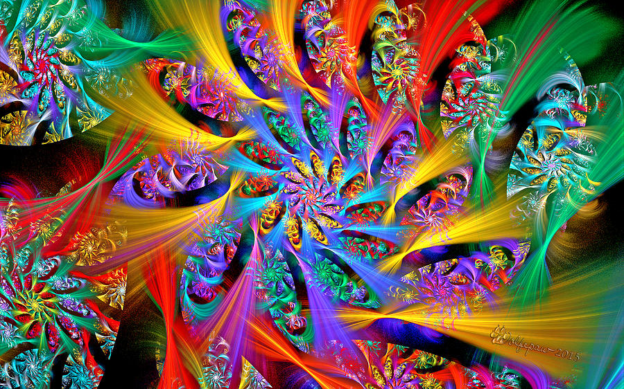 Abstract Digital Art - Spiral Regeneration by Peggi Wolfe