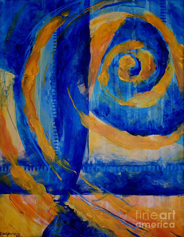Acrylic Painting - Spiral Sea by Dee Youmans-Miller