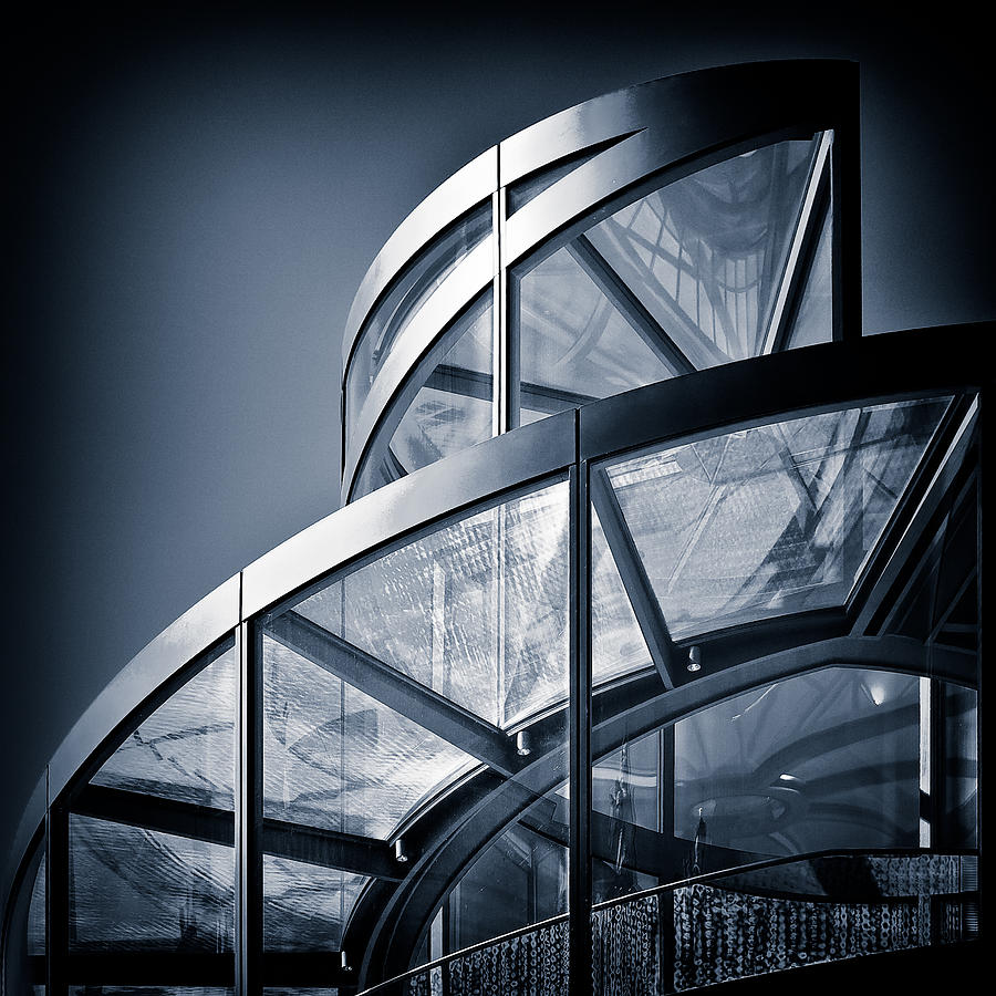 Spiral Photograph - Spiral Staircase by Dave Bowman