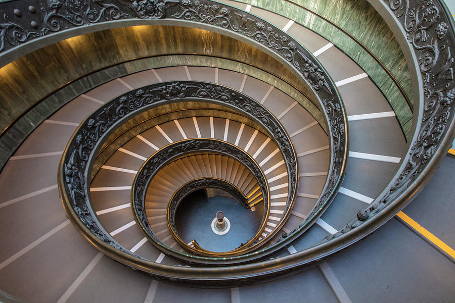 Spiral Staircase in St. Peter's Basilica by John McGraw