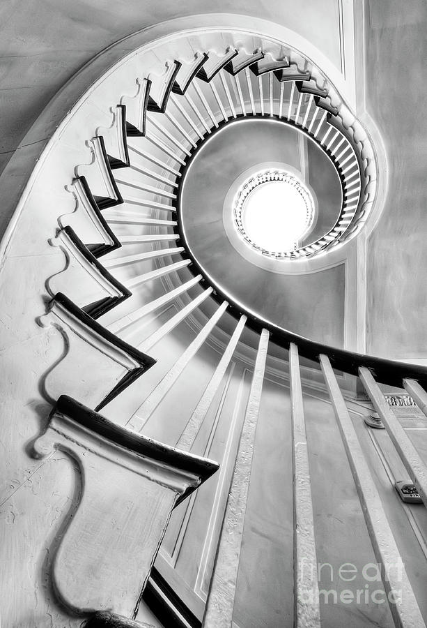 Spiral Staircase Photograph - Spiral Staircase Lowndes Grove  by Dustin K Ryan