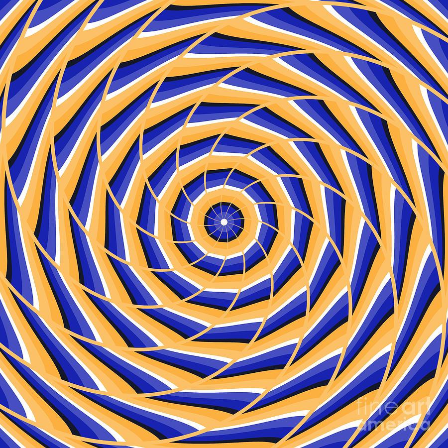 Spiral Twisting To Center Digital Art by Yurii Perepadia