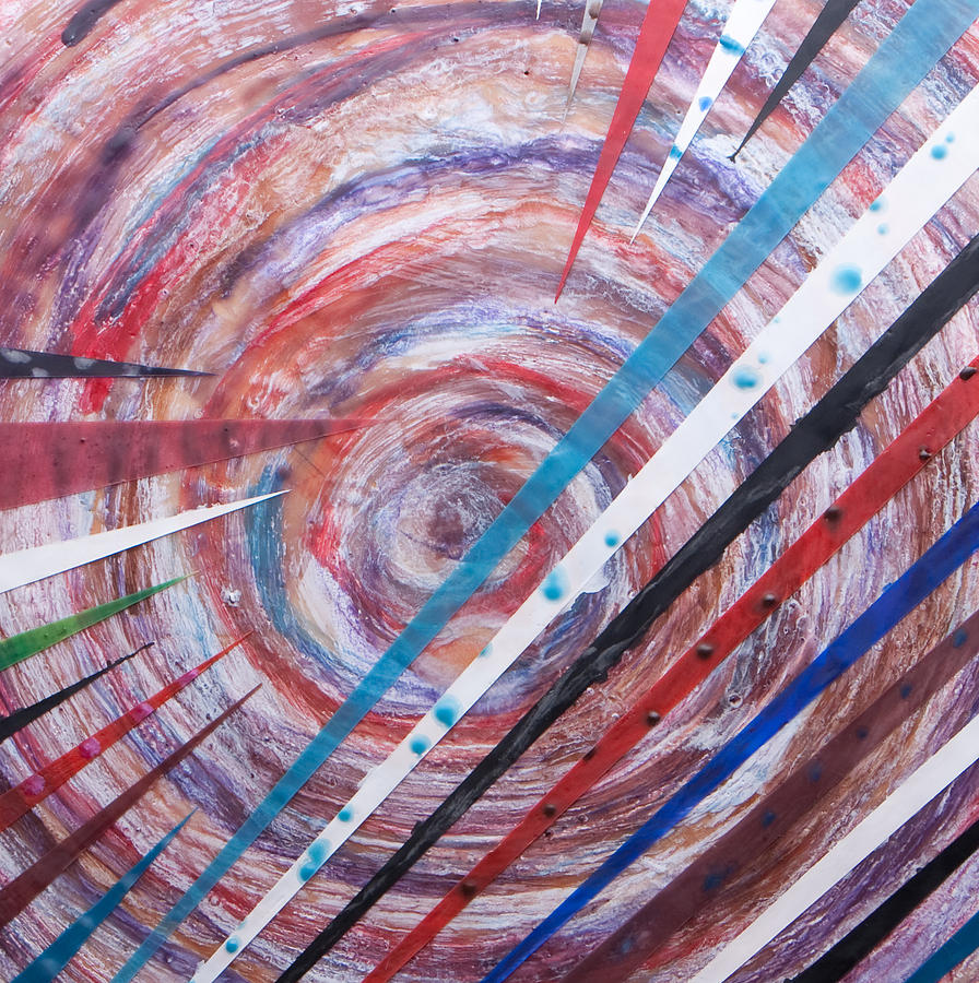 Encaustic Mixed Media - Spiral Unto Thee by Nell Werner