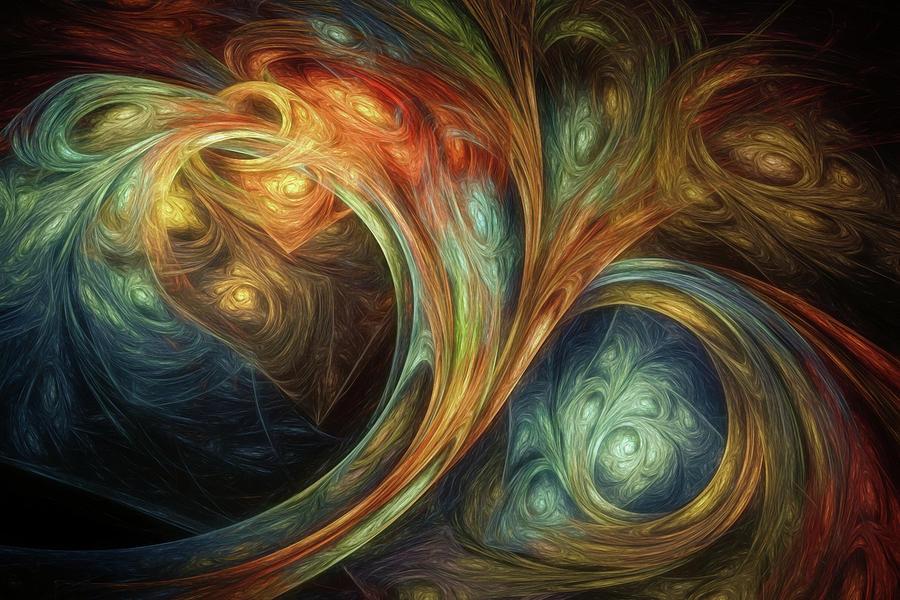 Fractal Digital Art - Spiralem Ramus by Scott Norris