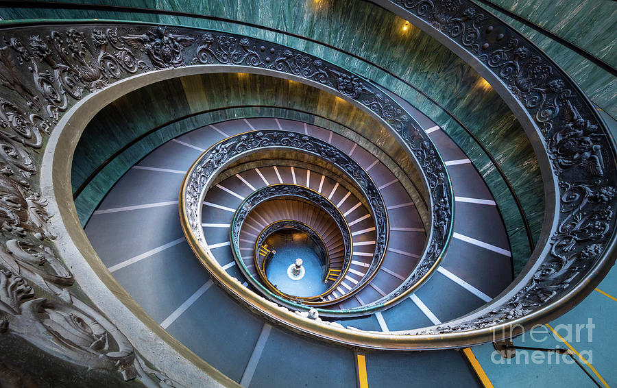 Catholic Photograph - Spiraling Down by Inge Johnsson