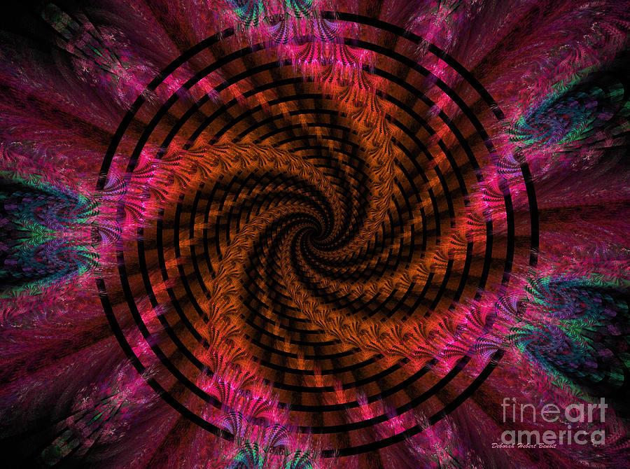 Digital Digital Art - Spiraling Into The Abyss by Deborah Benoit