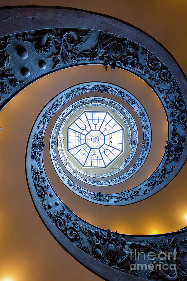 Catholic Photograph - Spiraling Towards The Light by Inge Johnsson
