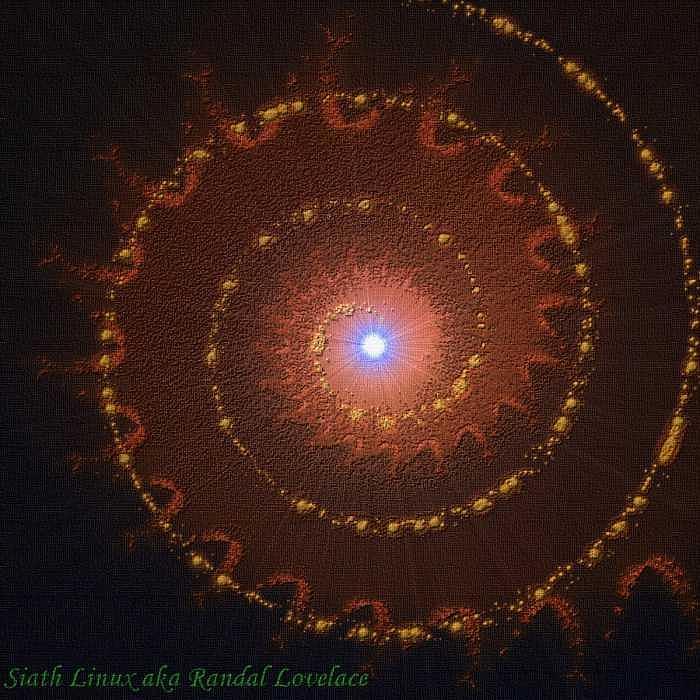 Spiralled Digital Art by Randal Lovelace