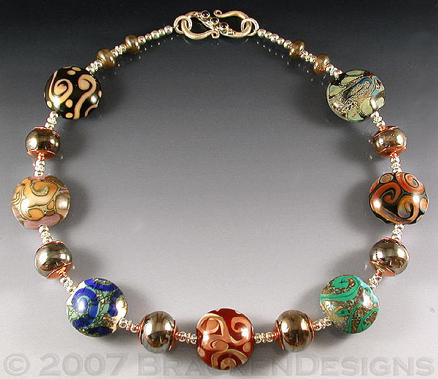Beads Jewelry - Spirals And Hollows by Laura Bracken