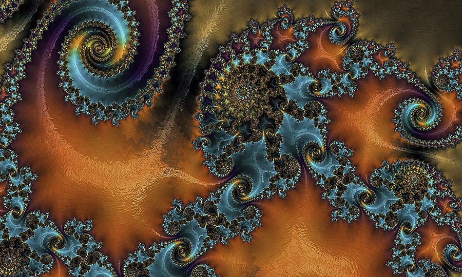 Fractal Digital Art - Spirals by Fernando Margolles