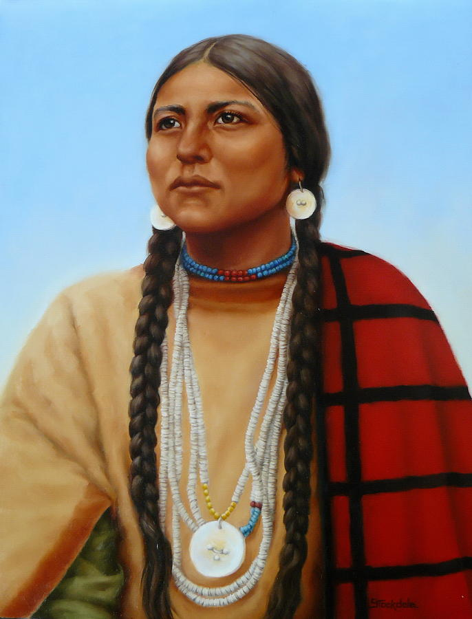 Spirit And Dignity-native American Woman Painting by ...