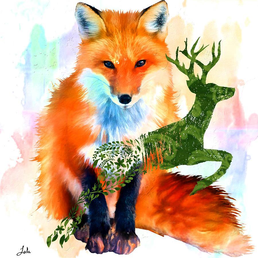 Spirit Animals Digital Art - Spirit Animals by Laura Botsford