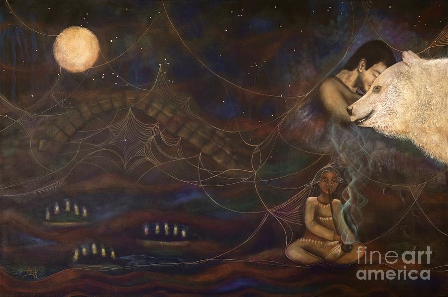 Spirit Bear Painting - Spirit Bear by Deborha Kerr