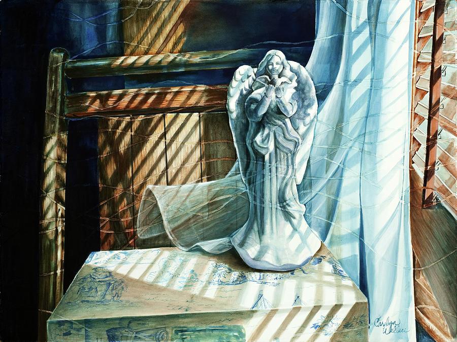 Still Life Painting - Spirit Breeze by Carolyn Coffey Wallace