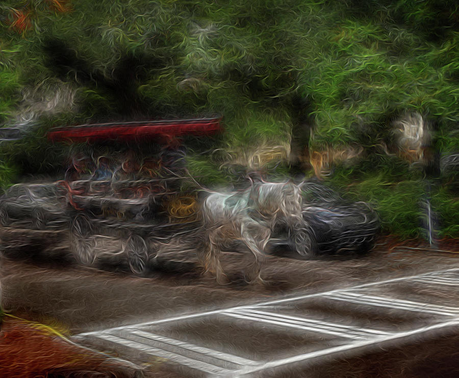 Abstract Digital Art - Spirit Carriage 1 by William Horden