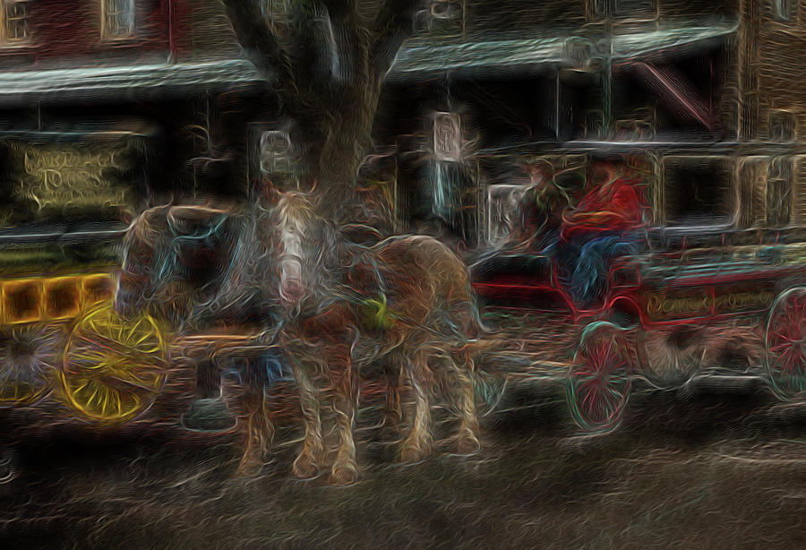 Abstract Digital Art - Spirit Carriage 3 by William Horden