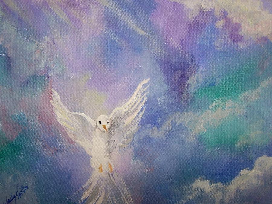 Dove Painting - Spirit Come by Wendy Smith