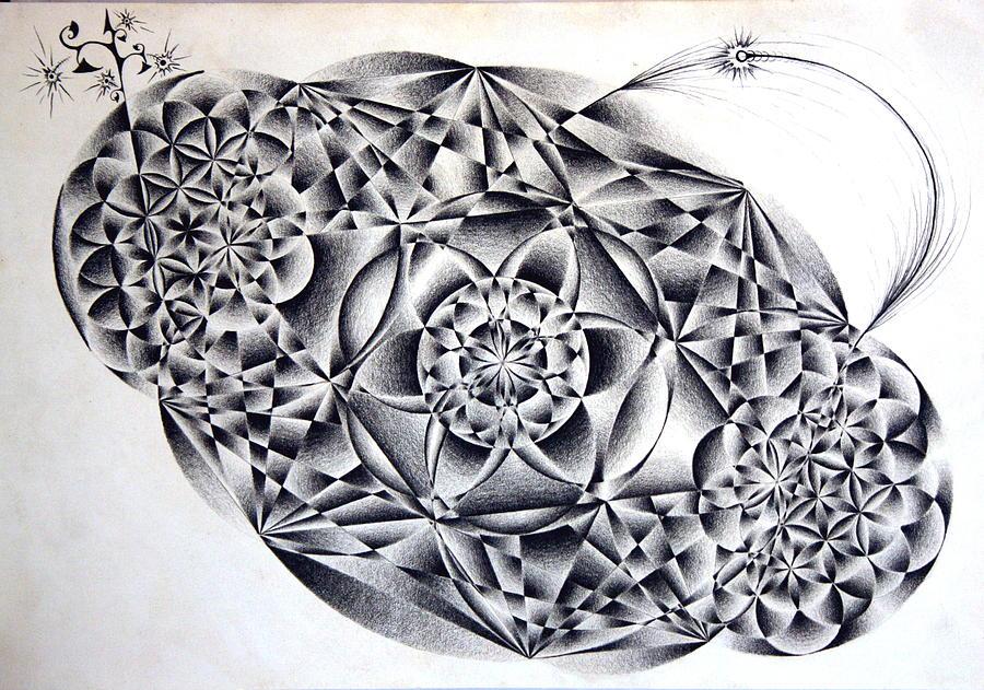 Spirit Drawing - Spirit Form Ing by Justin Christenbery