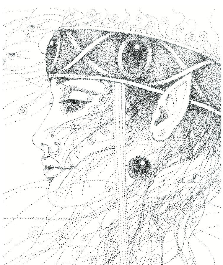 Spirit Drawing - Spirit Guide by Christine Winters