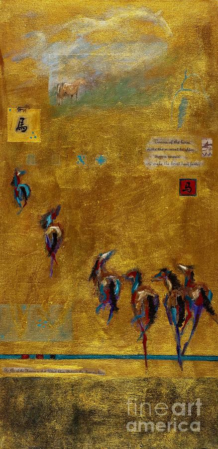 Horses Painting - Spirit Horses by Frances Marino