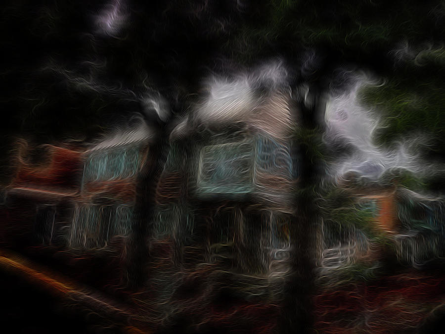 Abstract Digital Art - Spirit House by William Horden
