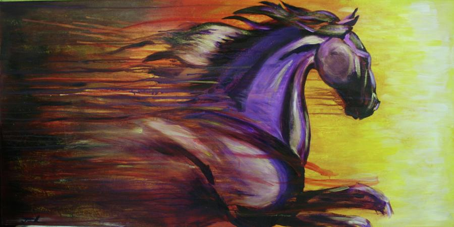 Horses Painting - Spirit by Jerry Frech