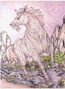 Horse Painting - Spirit by Karen Ichino
