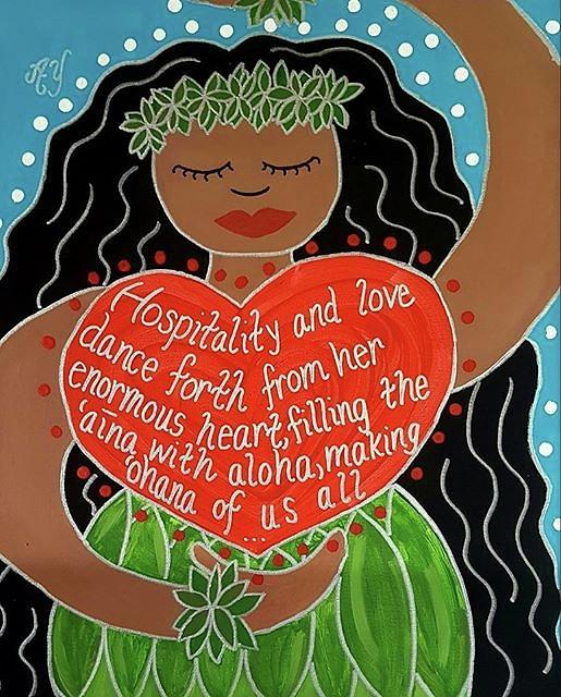 Holy Painting - Spirit of Aloha by Angela Yarber