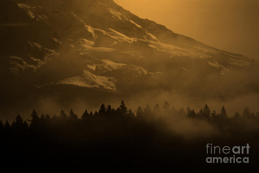 Mountain Photograph - Spirit Of Chief Seattle by C E Dyer