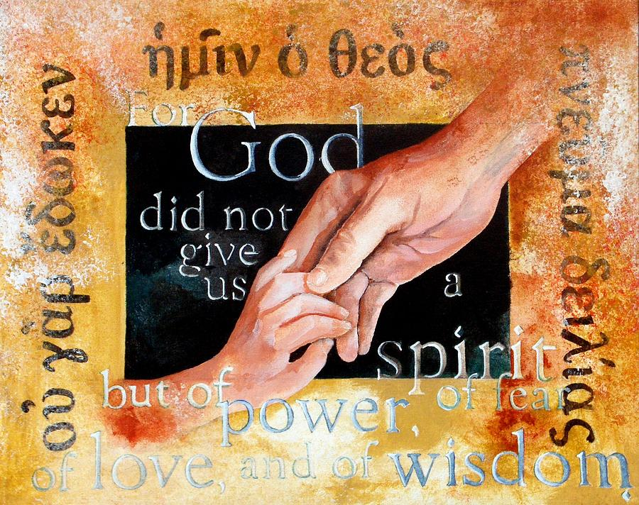 Greek Lettering Painting - Spirit Of Love by Michael Carter