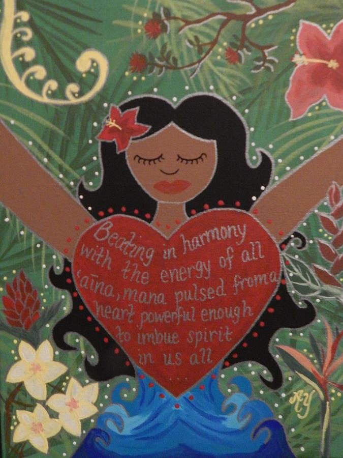 Holy Painting - Spirit of Mana by Angela Yarber