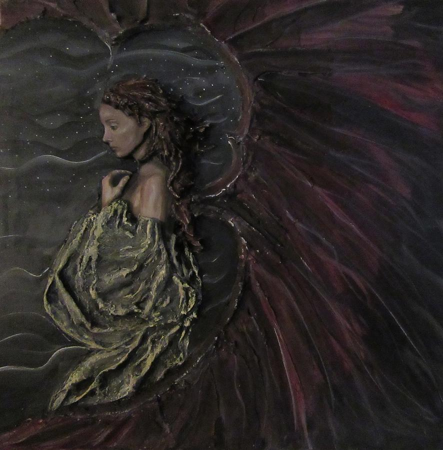 Angel Painting - Spirit Of Regret by J Edward Neill
