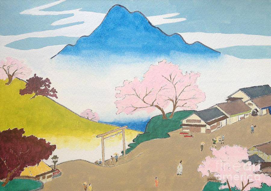 Hiroshige Painting - Spirit Of Shinto And Ukiyo-e In The Light Of Nature by Sawako Utsumi