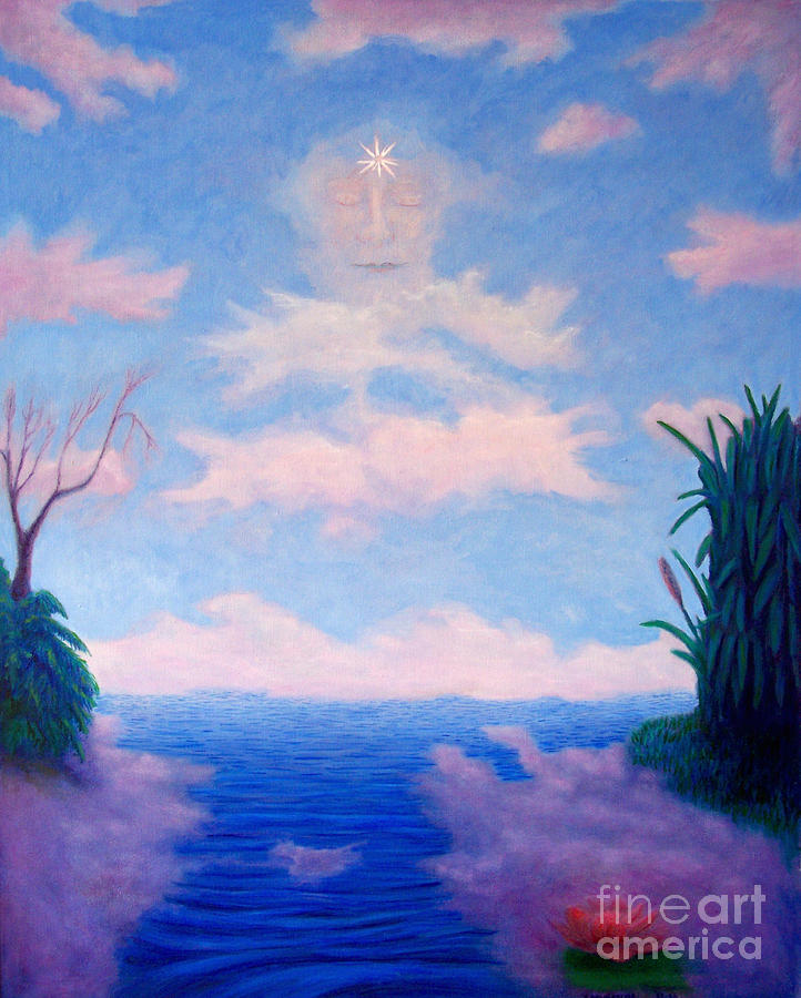 Buddha Painting - Spirit Of The Lake by Brian  Commerford