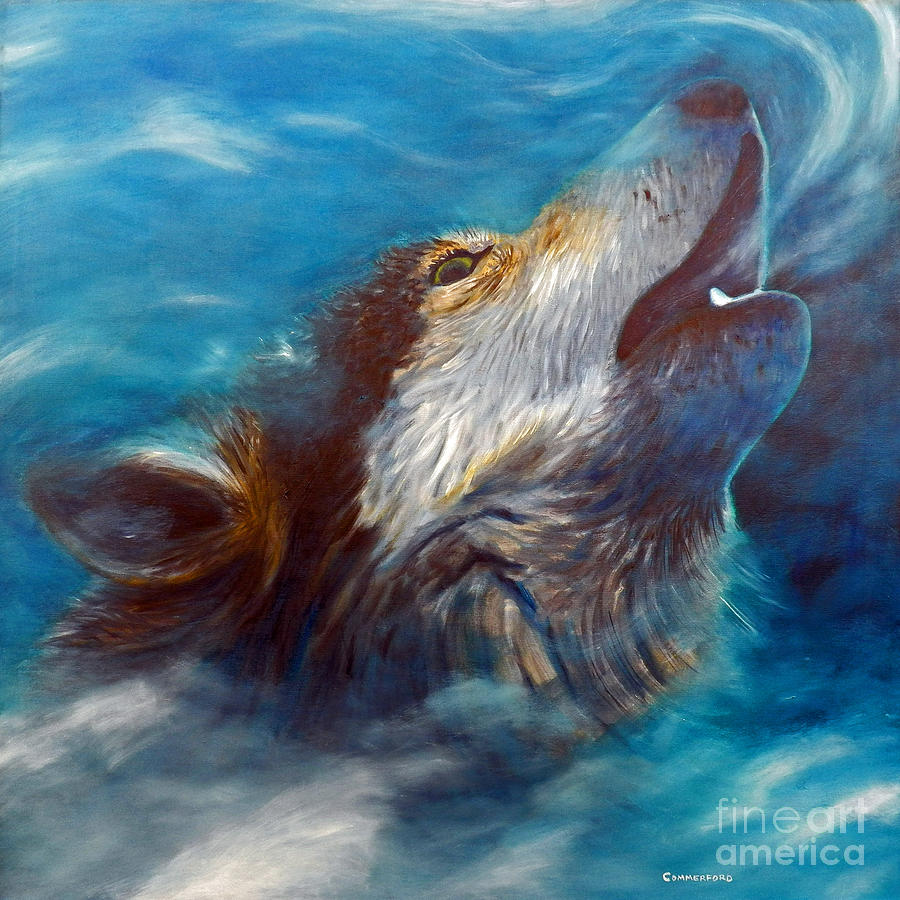 Wolf Painting - Spirit Of The Wolf by Brian  Commerford